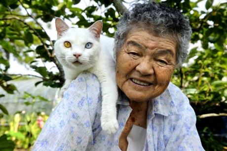 Grandma and her cat